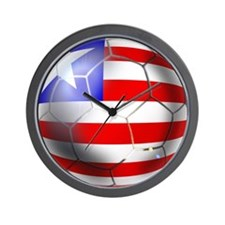 Liberia Soccer Ball Wall Clock