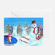 Snow Corgis II Greeting Cards (Pk of 10)