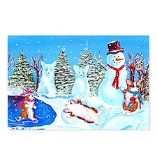 Snow Corgis II Postcards (Package of 8)