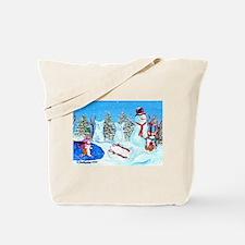 Snow Corgis II Tote Bag