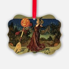 Vintage Halloween Dancing Witch Ornament