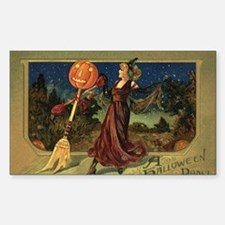 Vintage Halloween Dancing Witc Decal