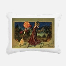 Vintage Halloween Dancin Rectangular Canvas Pillow