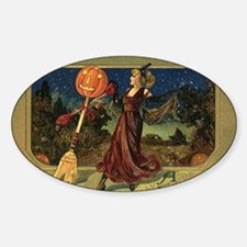 Vintage Halloween Dancing Witch Decal