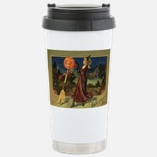 Vintage Halloween Dancing Witch Travel Mug