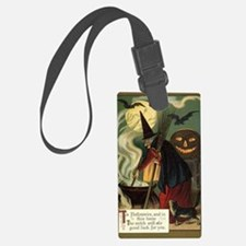 Vintage Halloween Witch with Cau Luggage Tag