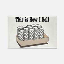 How I Roll (Hair Rollers/Curlers) Rectangle Magnet