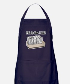 How I Roll (Hair Rollers/Curlers) Apron (dark)