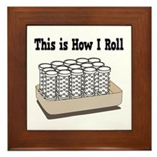 How I Roll (Hair Rollers/Curlers) Framed Tile