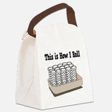 How I Roll (Hair Rollers/Curlers) Canvas Lunch Bag