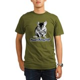 Chinchilla dad Organic Men's T-Shirt (dark)