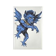 Vintage Halloween Gargoyle Demon Rectangle Magnet