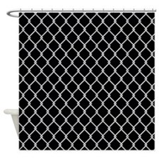 Chain Link Fence Shower Curtain (On Black)