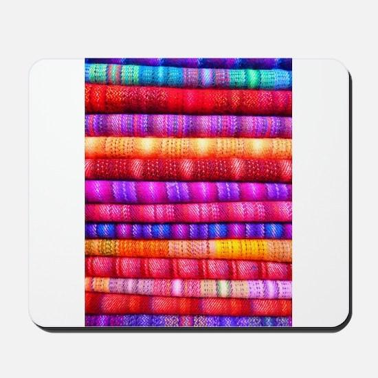 Colorful Fabric Pattern Mousepad
