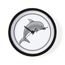 Fun Dolphin Wall Clock