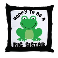 Hoppy to be a Big sister Throw Pillow