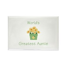 World's Greatest Auntie (y) Rectangle Magnet