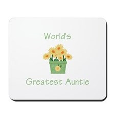 World's Greatest Auntie (y) Mousepad