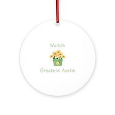 World's Greatest Auntie (y) Ornament (Round)