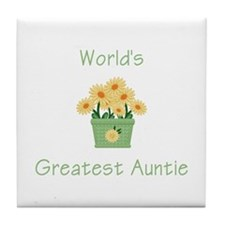 World's Greatest Auntie (y) Tile Coaster