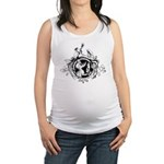 Devil Illustration Maternity Tank Top