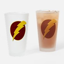 Retro Super Hero lightning bolt Drinking Glass