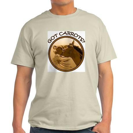 Got Carrots? Funny horse Ash Grey T-Shirt