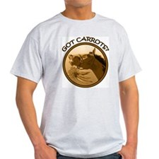 Got Carrots? Funny horse Ash Grey T-Shirt