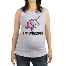I Love Unicorn Maternity Tank Top
