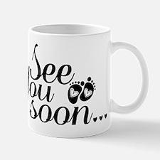 See You Soon Footprints Small Mug