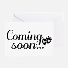 Coming Soon - Baby Footprints Greeting Cards (Pk o
