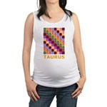 Pop Art Taurus Maternity Tank Top
