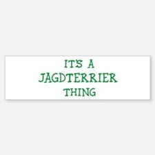 Jagdterrier thing Bumper Bumper Bumper Sticker