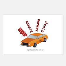 Super karate monkey death car Postcards (Package o