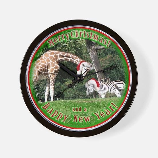 Helaine's Giraffe/Zebra Chris Wall Clock