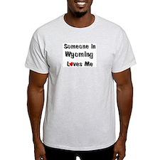 Wyoming Loves Me Ash Grey T-Shirt