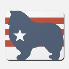 Patriotic Collie Mousepad