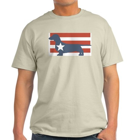 Patriotic Dachshund Ash Grey T-Shirt