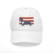 Patriotic Dachshund Baseball Cap