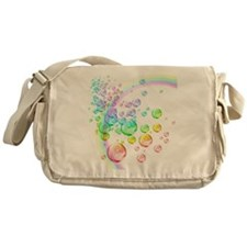 colored bubbles with rainbow2 Messenger Bag
