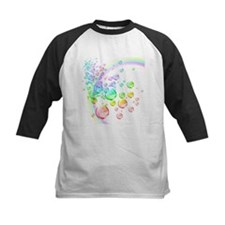 colored bubbles with rainbow2 Baseball Jersey