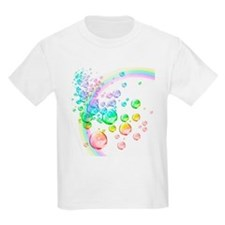 colored bubbles with rainbow2 T-Shirt