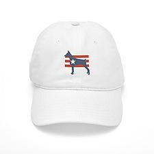 Patriotic Doberman Pinscher Baseball Cap