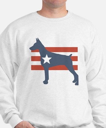 Patriotic Doberman Pinscher Sweatshirt