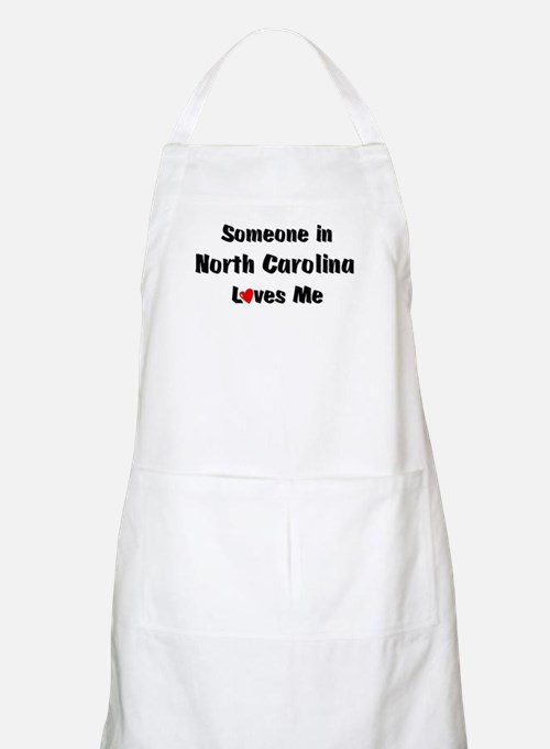 North Carolina Loves Me BBQ Apron