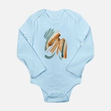 Abstract Nada Long Sleeve Infant Bodysuit