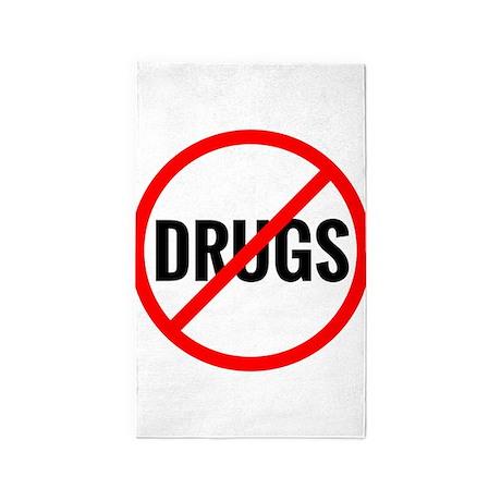 No Drugs 3'x5' Area Rug