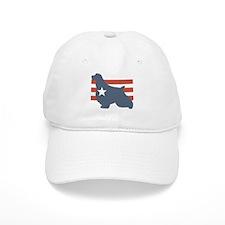 Patriotic English Springer Sp Baseball Cap