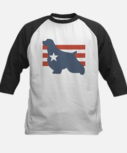 Patriotic English Springer Sp Kids Baseball Jersey