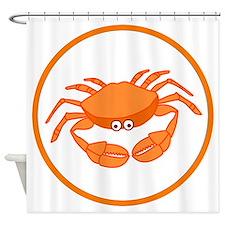 Cute Crab Shower Curtain